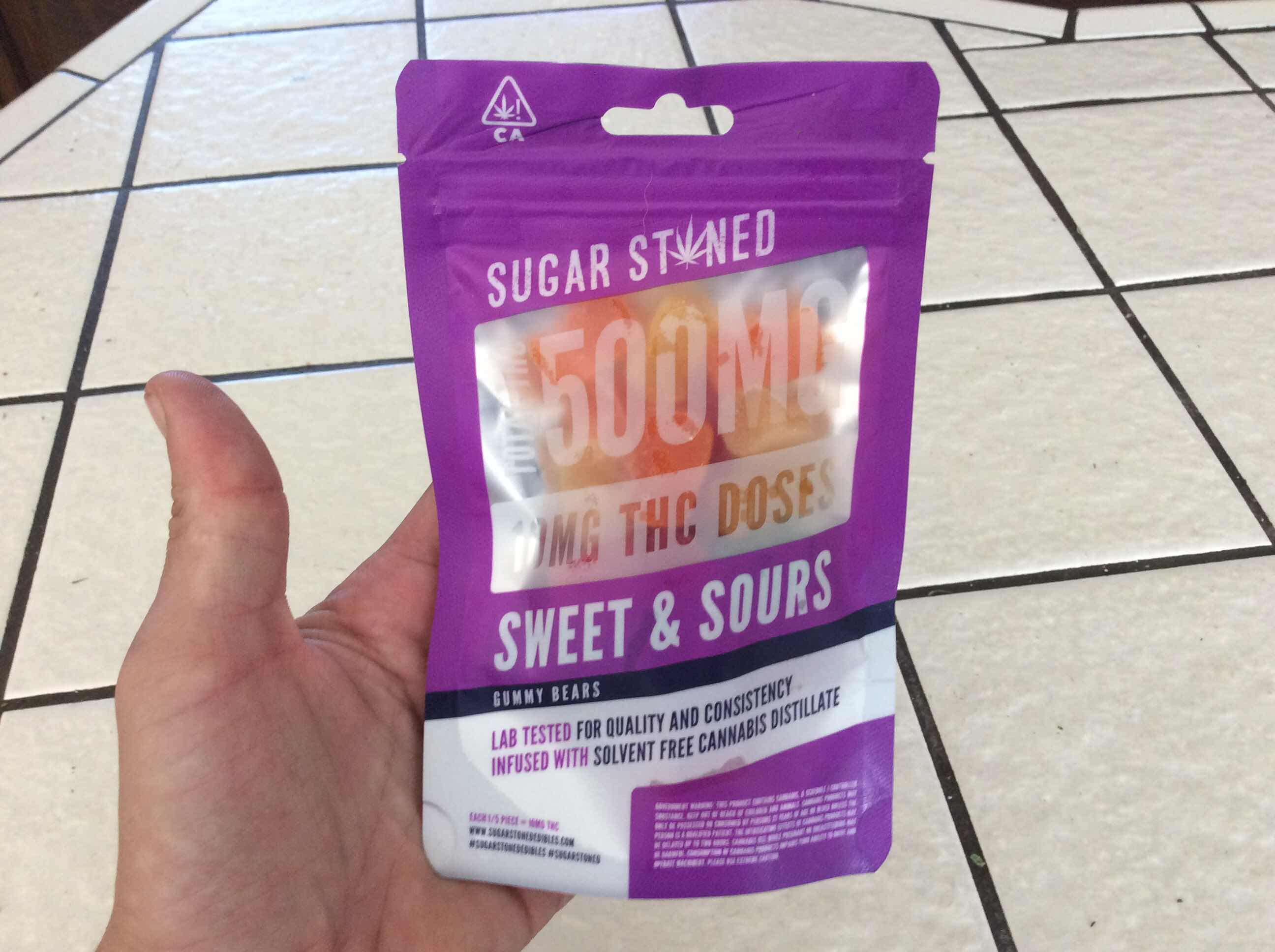 Sugar Stoned - Gummy  Bears 500mg